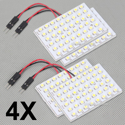 4x 48 LED 3528 SMD 12V Car Interior Lights Panel Bulb Lamp T10 BA9S Dome Festoon