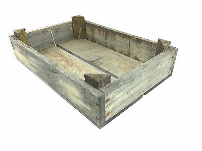 Vintage style  grey  antique wooden tomato crate