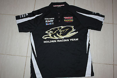 Holden Racing TEAM Mens HRT BLACK/WHITE Polo Shirt. sizes S M, with defects