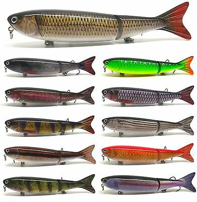 "5"" Bass Pike Fishing Lure Bait Swimbait Jerkbait Pencil Banana Walk The Dog NEW"