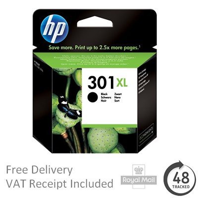 Genuine Original HP 301XL High Capacity Black Ink Cartridge for Deskjet 2544