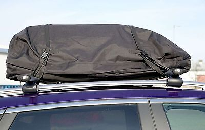 Large Black Fully Waterproof Roof Rack Box Storage Cargo Cover Bag-Foldable