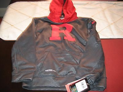 Boys/Girls Nike Therma Fit Rutgers University Scarlet Knights Hoodie Size 5 Nwt