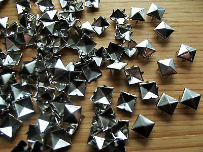 Bumper Pack of 100 Metal Square Pyramid Studs/Brads: craft sewing embellishment