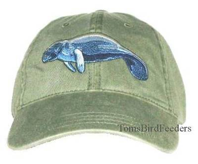 Manatee Embroidered Cotton Cap NEW Wildlife Hat