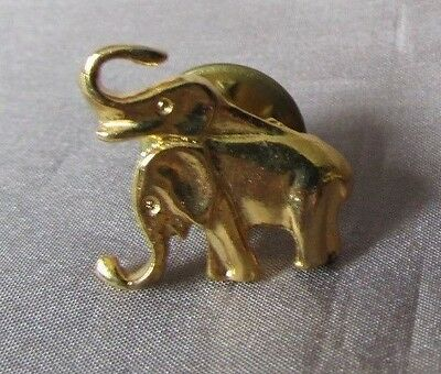 Elephant Pair  Gold Tone Small 1/2 X 3/4  Lapel Pin