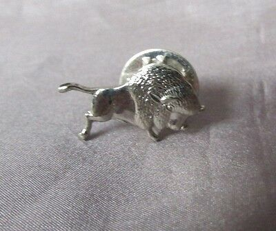 Buffalo Silver Tone Small 1/2 X 3/4  Lapel Pin
