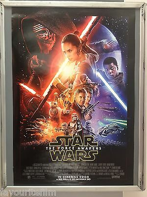 Cinema Poster: STAR WARS THE FORCE AWAKENS 2015 (Coming Soon Main One Sheet)