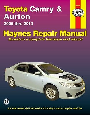 Haynes Workshop Service Repair Manual Book  Toyota Camry Aurion 2006-2013