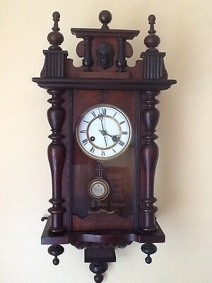 Antique German Pfeilkreuz Wall clock with R=A Pendulum c.1900