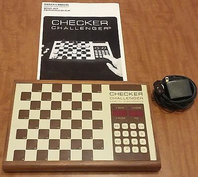 Fidelity Electronic Checker Challenger Model ACR Gameboard Manual (Not Working)