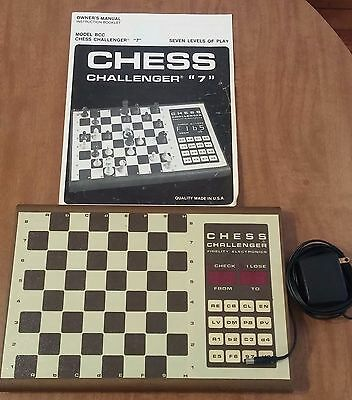 Fidelity Electronic Chess Challenger 7 Game Model BCC 1980s - Works!