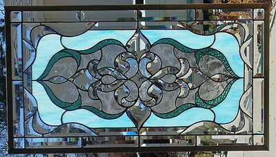 Stained Glass Window Hanging 32 1/2 X 18 1/4""