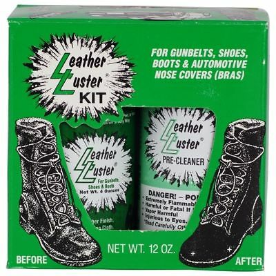 Leather Luster Kit Hi Gloss Patent Leather Finish Black Military shoe shine NEW