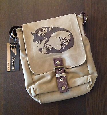 Sled Dog Spirit Vintage Canvas Ipad Reporter Bag Curled Siberian Husky Huskies
