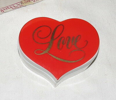 "Heart Shaped ""Love"" Ceramic Box - just right for Valentine's 2017!"