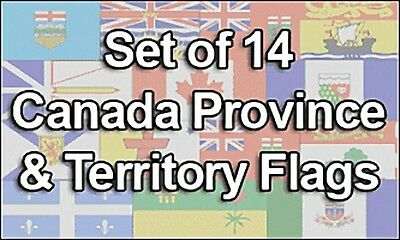 Set of 14 Canada, Province & Territory Flags, 100% Polyester, 3'x5' - Free Ship