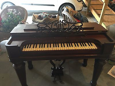 Beautiful and Rare Antique 1800s Taylor and Farley, Mass. Rosewood Melodeon