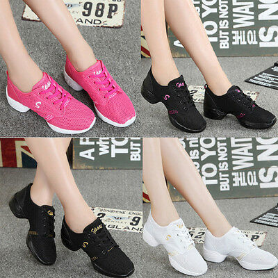 Women's Breathable Sports Sneakers Elastic Modern Jazz Hip Hop Soft Dance Shoes