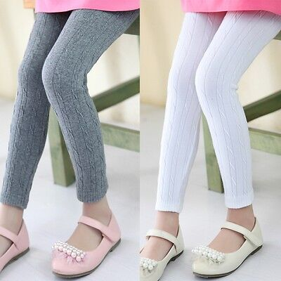 Girls Kids Children Cotton Leggings Solid Candy Color Underpants Tight Trousers
