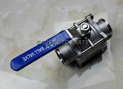 "Sanitary stainless steel 3 Piece ball valve 2"" OD:51MM SS304 Triclamp SS304"