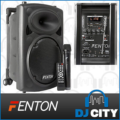 Fenton FPS10 10 Inch Portable PA System 150 Watt with Wireless Mic & USB Player