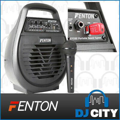 Fenton ST032 Portable PA System 50 Watt with USB Player & Microphone
