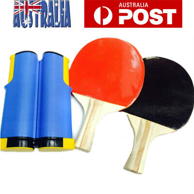 Portable Table Tennis Ping Pong Kit with 2 Bats 1 Retractable 3 Balls  AU Stock