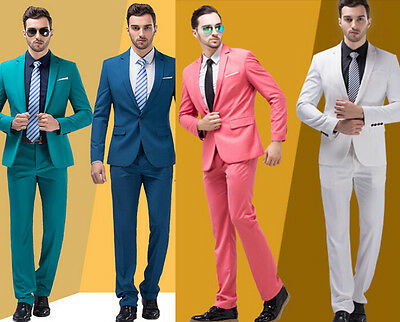 Brand New Quality Mens Suit Wedding Groom Formal One Button Suits Jacket Pants