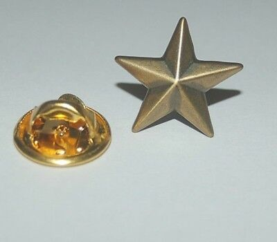 Gold Stern goldfarben Pin Button Badge Sticker Anstecker Anstecknadel TOP