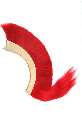 Red Plume Red Crest Brush New Natural Horse Hair For Greek Corinthian Helmet..