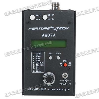 DIY AW07A HF/VHF/UHF 160M Impedance SWR Antenna Analyzer f Ham Radio UK Stock!!!