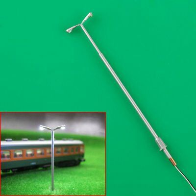 10 X Mini Model Street Lamp Lamppost Double-end Light 1:150 Scale N Gauge