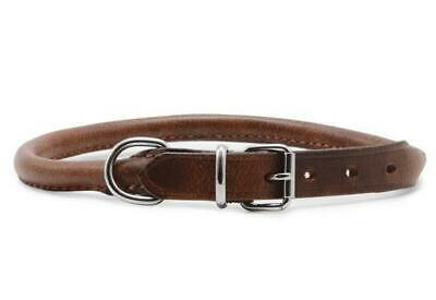 Ancol Heritage Leather Dog Collars & Leads All Sizes Round