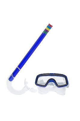 Kids Summer Swimming Scuba Anti Fog Goggles Mask Snorkel Diving Silicone Set