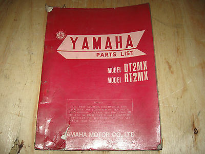 Dt2 Mx Rt2 Mx Vintage Oem Factory Parts Book Free Ship U.s And Canada