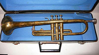 This Is Vintage, Old Lignatone Brass Trumpet/ Trompette