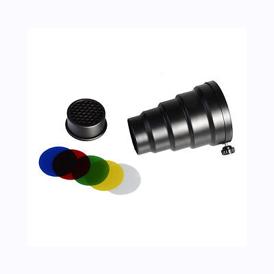 Concial Snoot - Flash Photography - Universal Mount Short - Studio Strobe Light
