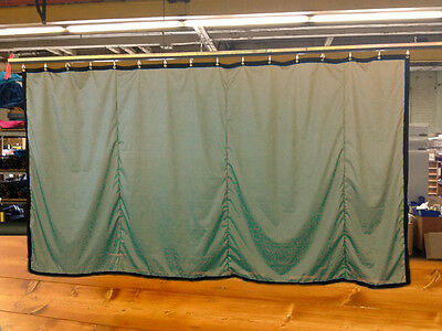 Tan Curtain/Stage Backdrop/Partition, Non-FR, 9 H x 20 W