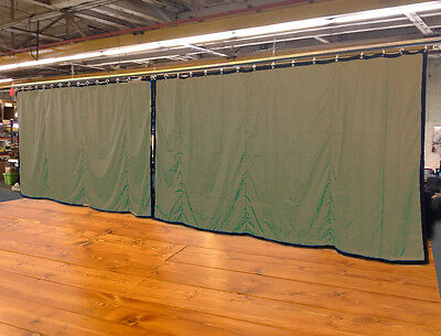 Lot of (2) Tan Curtain/Stage Backdrop, Non-FR, 10 H x 15 W
