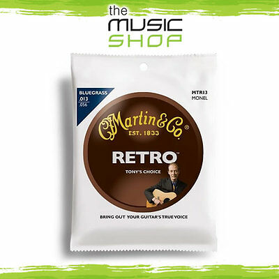 New Martin Tony Rice Signature Bluegrass Acoustic Guitar Strings - 13-56 MTR13