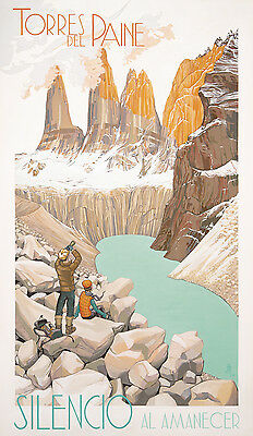 A3 SIZE - TORRES PAINE SILENC  - Vintage Retro Travel & Railways Poster Print #3