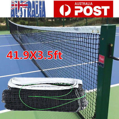 Full Size Tennis Court Net 12.8x1.08M Standard Replacement Net Included Cable AU