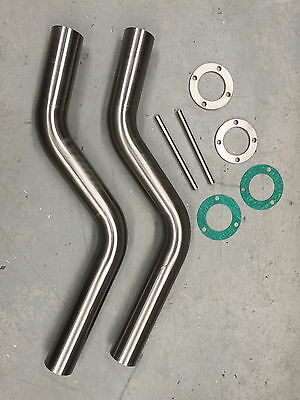 Water Cooled Exhaust Pipes SS Tawco Marine v8 chev speed boat MCE