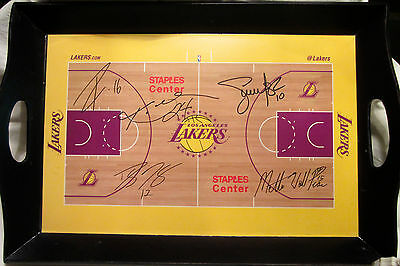 Los Angeles Lakers 2010-2011 Stadium Promotional Signature Floor Serving Tray