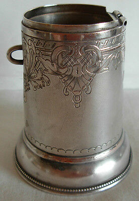 ANTIQUE RUSSIAN 84 SILVER  ENGRAVED CHILD MONEY BOX WITH NO LID !!!!!! 62.5 gram