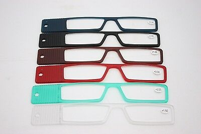 J2B Smarty Reading Glasses Ready Readers with Case lorgnette Ultra thin portable