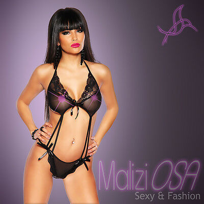Body Teddy Sexy pizzo Tulle Bodystocking Hot Lingerie completino Intimo Perizoma