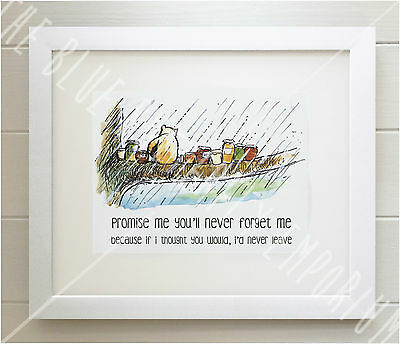 Winnie The Pooh Framed Quote Print Babybirth Nursery Picture Gift