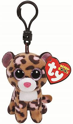 PATCHES LEOPARD - Ty Beanie Boos Keyring Key Clip - Plush Boo Babies Toy Teddy